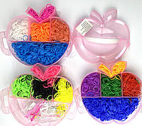 Набор резинок для плетения трехярусный кейс Яблоко Лум Бэндс 3500 шт