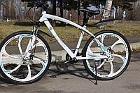 """Стальной Велосипед на литых дисках 26"""" BMW рама 17"""" Белый, фото 1"""
