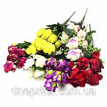 """Букет искусственный """"Бутоны роз - натуральные"""" 10 цветков, 5 см, 42 см (8 видов)"""
