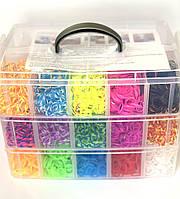 Трехярусный набор резинок для плетения Макси Кейс Лум Бэндс 10000 шт