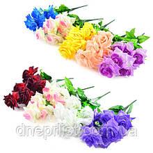 """Букет искусственный """"Роза крупная"""" 6 цветков, 9-10 см, 44 см (8 видов)"""
