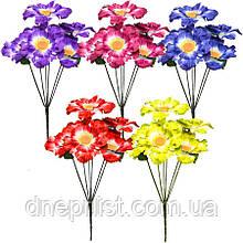 """Букет искусственный """"Большие цветы"""" 6 цветков, 11 см, 32 см (5 видов)"""
