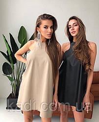 Платье с необработанным низом / арт.002
