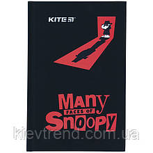 Книга записная твердая обкл. в клетку А6, 80арк. в клеточку Snoopy - 1 sn21-199-1