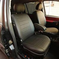 Авточехлы Audi А6 C5 (раздельний диван) 1997-2004 (Экокожа) Чехлы в салон Черные