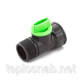 Кран кульовий Presto-PS з зовнішньою і внутрішньою різьбою 3/4 дюйма, в упаковці - 30 шт. (4030)