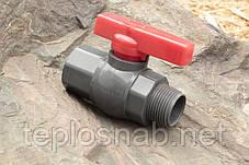 Кран кульовий Presto-PS 50 мм з зовнішньою і внутрішньою різьбою 2 дюйма, в упаковці - 5 шт. (PFV-0163), фото 2