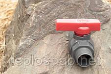 Кран кульовий Presto-PS 50 мм з зовнішньою і внутрішньою різьбою 2 дюйма, в упаковці - 5 шт. (PFV-0163), фото 3