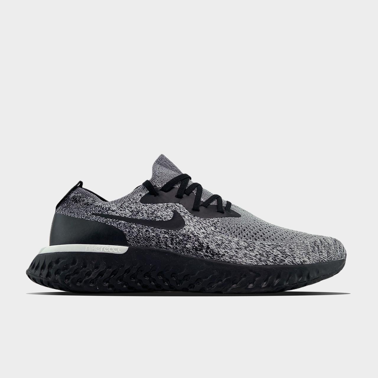 Nike чоловічі демісезонні сірі кросівки на шнурках. Весняні чоловічі текстильні кроси.