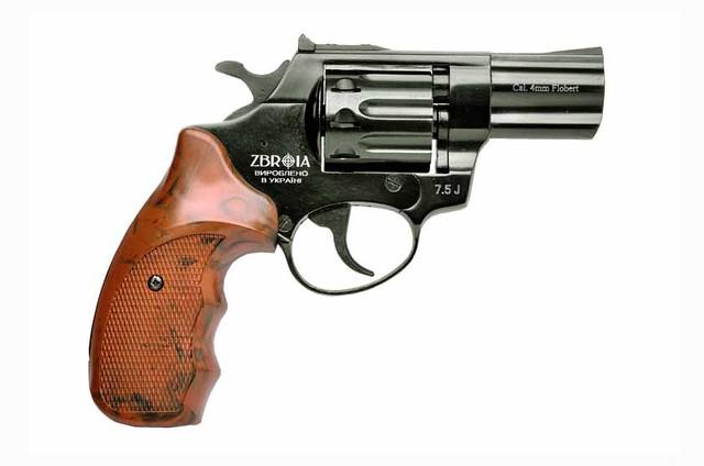 """Револьвер під патрон Флобера PROFI 3"""" (пластик під дерево)"""
