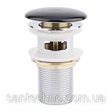 Донний клапан для раковини Qtap F009-1 BLA з переливом
