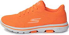 Кроссовки женские Skechers Go Walk 5 Lucky, Оранжевый, 35