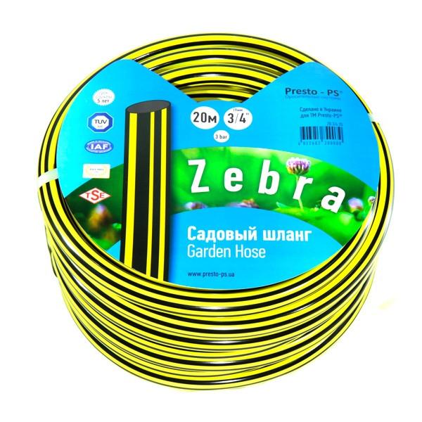Шланг поливальний Presto-PS садовий Зебра діаметр 3/4 дюйма, довжина 30 м (ZB 3/4 30)