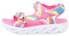 Сандалии для девочек Skechers Hypno-Splash Rainbow Lights, мультицвет, 27