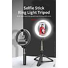 Кольцевая LED лампа L07 16 см с держателем для телефона и треногой, фото 4