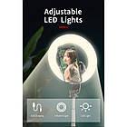 Кольцевая LED лампа L07 16 см с держателем для телефона и треногой, фото 7