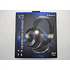 Наушники беспроводные Bluetooth X2 SY-BT1611SP + колонка 2в1, Чёрный, фото 7