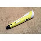 3D ручка для малювання Pen3 MyRiwell з LCD дісплеєм + трафарет, Жовтий, фото 2