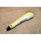 3D ручка для малювання Pen3 MyRiwell з LCD дісплеєм + трафарет, Жовтий, фото 3