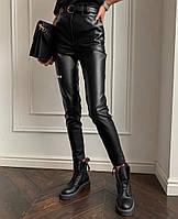Жіночі стильні брюки з еко-шкіри