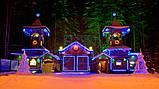 Новогодняя гирлянда / Led Лента / Светодиодная СНЕЖИНКА (скоба) обмотанная светящимся проводом 3 м  (7194-M), фото 4