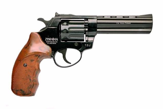 """Револьвер под патрон Флобера PROFI 4.5"""" (пластик под дерево)"""