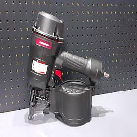 Пистолет гвоздезабивной пневматический барабанный для поддонов ящиков 45-70 магазин 300 гвоздей AEROPRO MCN70