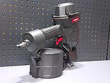 Пистолет гвоздезабивной пневматический барабанный для поддонов ящиков 45-70 магазин 300 гвоздей AEROPRO MCN70, фото 2