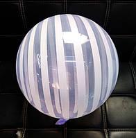 Шар бабл bubble полосатый фиолетовый 45 см (Китай)