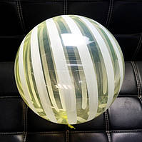 Шар бабл bubble полосатый жёлтый 45 см (Китай)