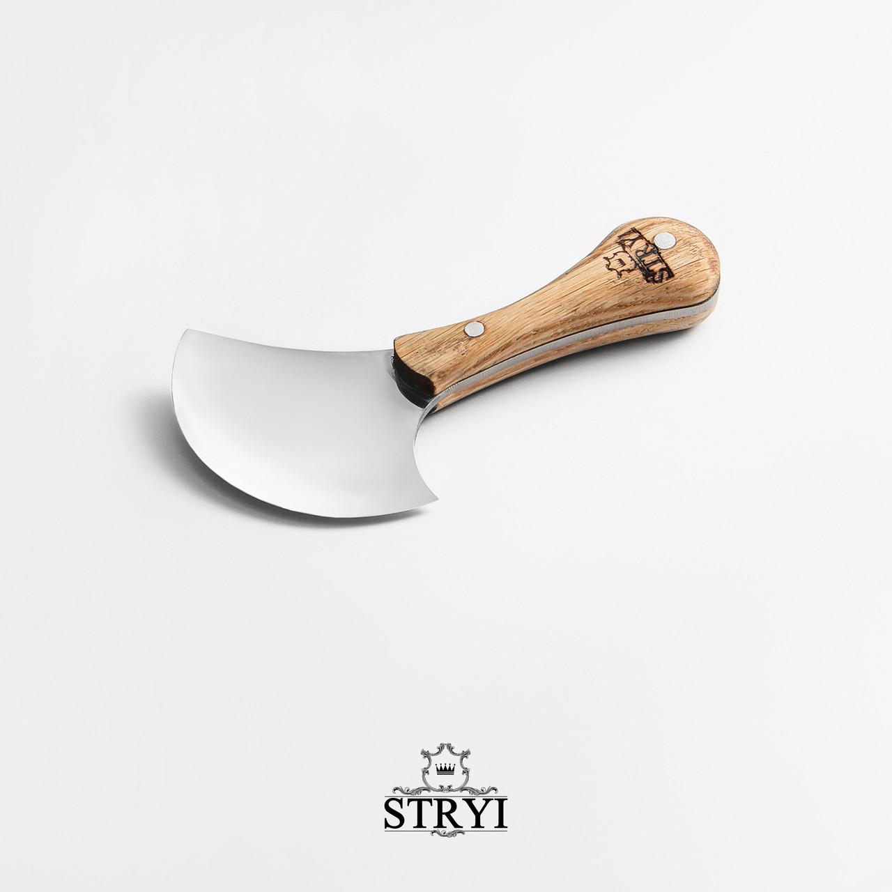 Шерфовальный ніж для шкіри 100мм, півмісяць