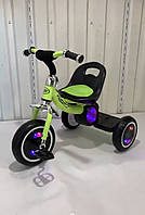 Детский трехколесный музыкальный велосипед M 3650-M-2 салатовый