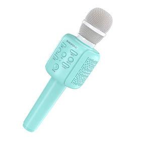 Беспроводной караоке микрофон Borofone BF1 Rhyme Голубой