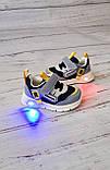 Кросівки для хлопчиків W. niko *світяться 17р, 11.5 см, фото 3