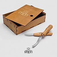Набор стамесок для вырезания ложки STRYI, 2шт, для начинающих