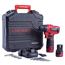 Шуруповерт акумуляторний з двома батареями в кейсі WORCRAFT CD-12LiA, фото 2