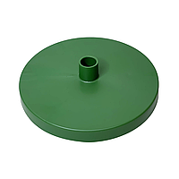 Подставка D150мм на трубу D16мм, Зеленая, для изготовления настольного светильника