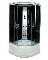 Гидромассажный бокс SunLight 470 стекло 90G 90х90х215 см Черный с белым, КОД: 1371064