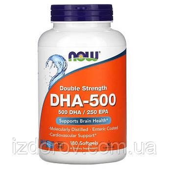 Now Foods, ДГК-500/ЭПК-250, двойной концентрации, 180 мягких таблеток