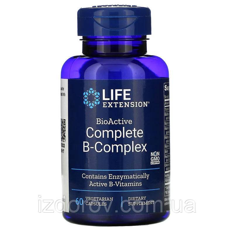Life Extension, Вітаміни групи B, BioActive Complete B-Complex, 60 рослинних капсул
