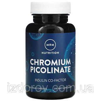 MRM, Nutrition, Хром пиколинат 200 мкг, Chromium Picolinate, 100 веганских капсул