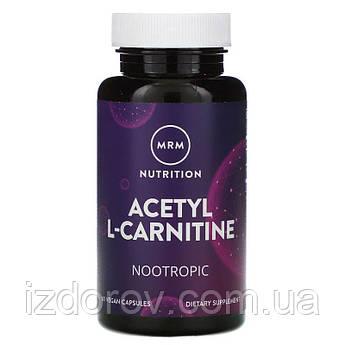 MRM, Ацетил-L-карнітин, Acetyl L-Carnitine 500 мг, 60 капсул веганских
