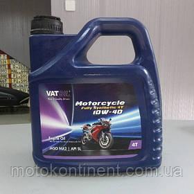 Мотоциклетное масло 10W-40 синтетическое Vatoil Motorcycle 4T full synthetic 10W40 / 4л. от KROON OIL