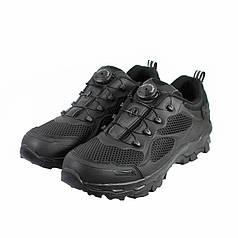 Кросівки тактичні з автошнуровкой Lesko C206 Black 45 чоловічі армійські