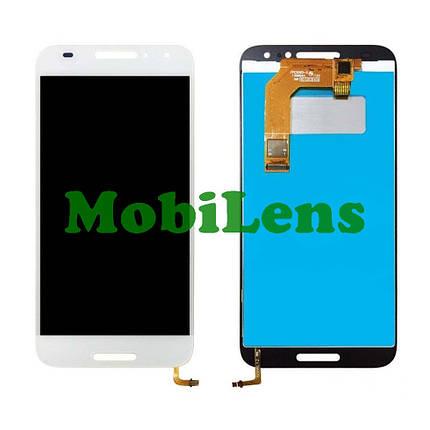 Alcatel 5046, 5046D Дисплей+тачскрін(модуль) білий, фото 2