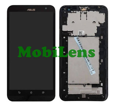 Asus ZE601KL, ZenFone 2 Laser, Z011D, ZE600KL Дисплей+тачскрин(модуль) черный в рамке, фото 2