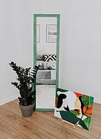 Зеркало напольное в деревянной раме зеленый, фото 2