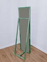 Зеркало напольное в деревянной раме зеленый, фото 4