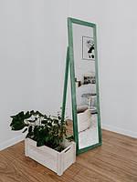 Зеркало напольное в деревянной раме зеленый, фото 6