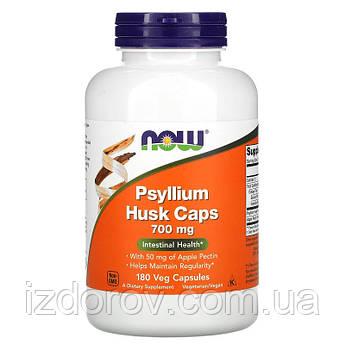 Now Foods, Псиллиум в капсулах, Подорожник (молотая шелуха семян), Psyllium Husk Сaps, 700 мг, 180 капсул